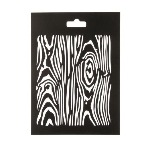 Трафарет пластиковый, Дерево, 20*14,5 см