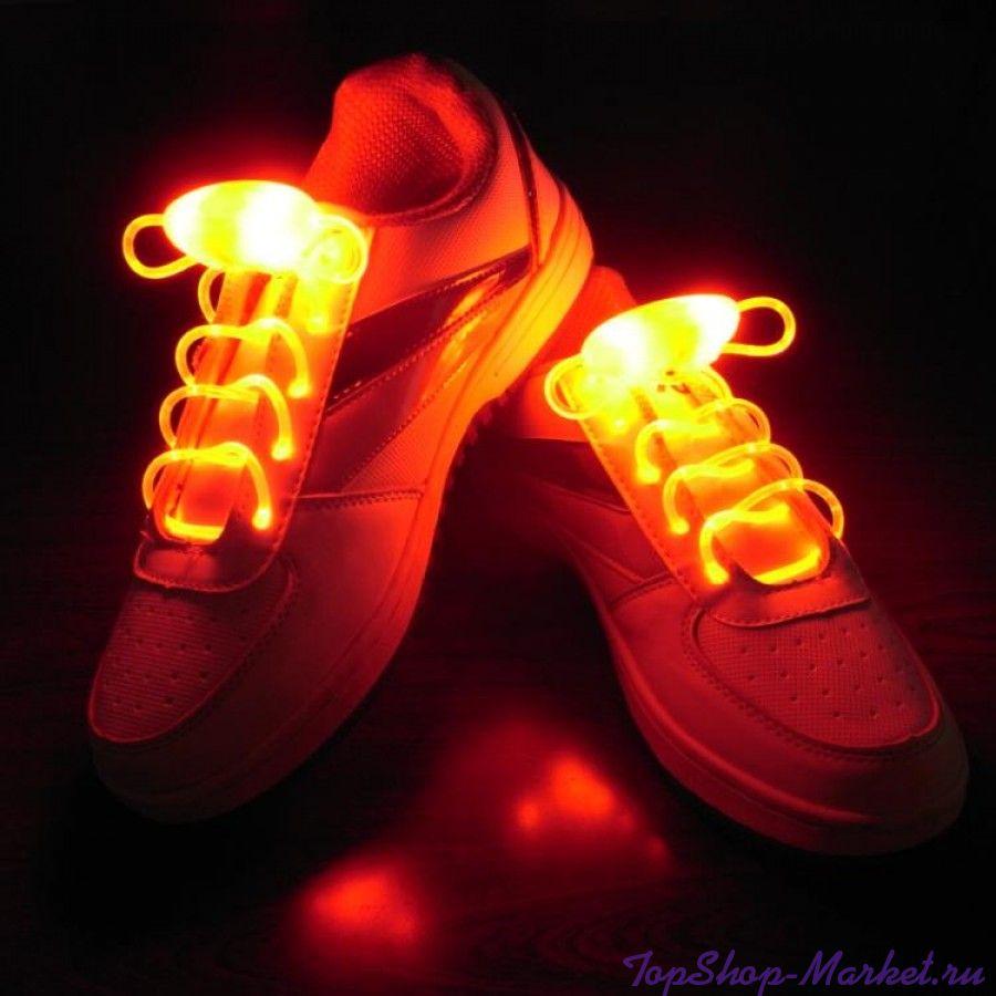 Светящиеся шнурки, Цвет: Оранжевый