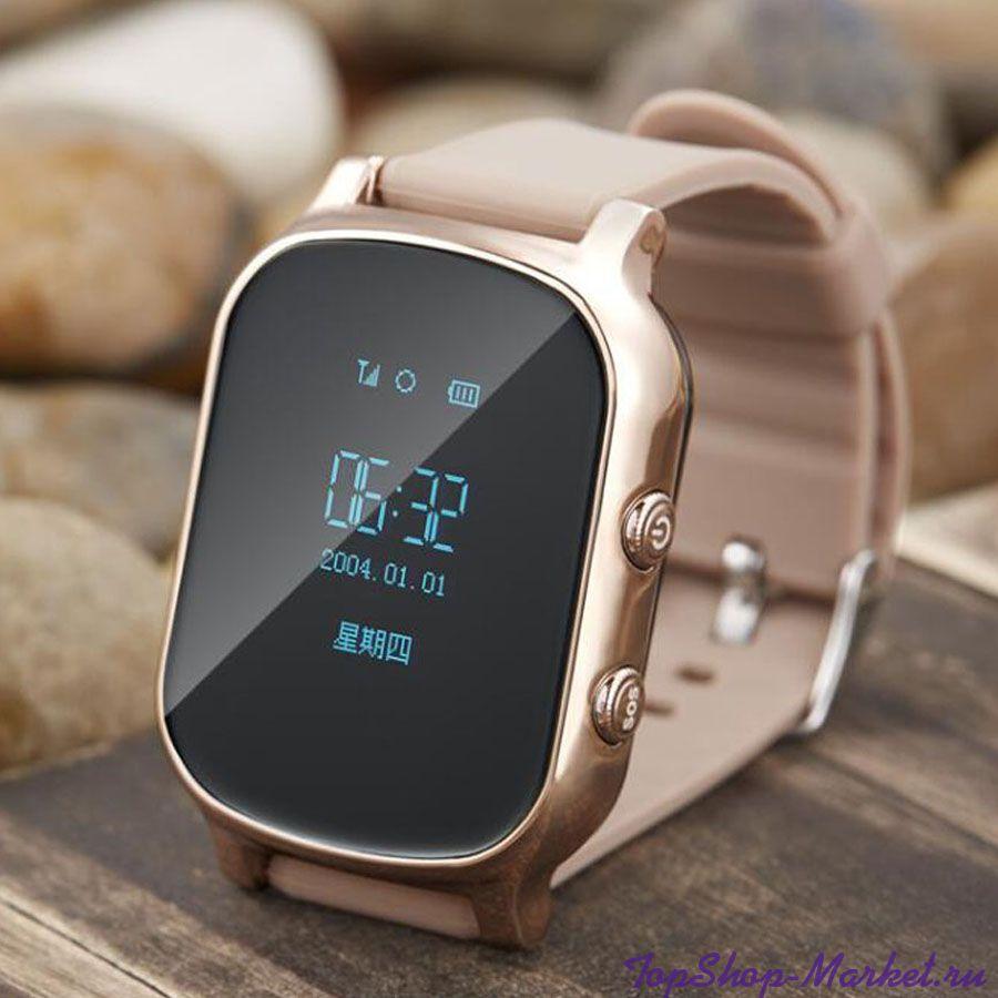 Умные детские часы с GPS Smart Baby Watch T58, Цвет: Золото