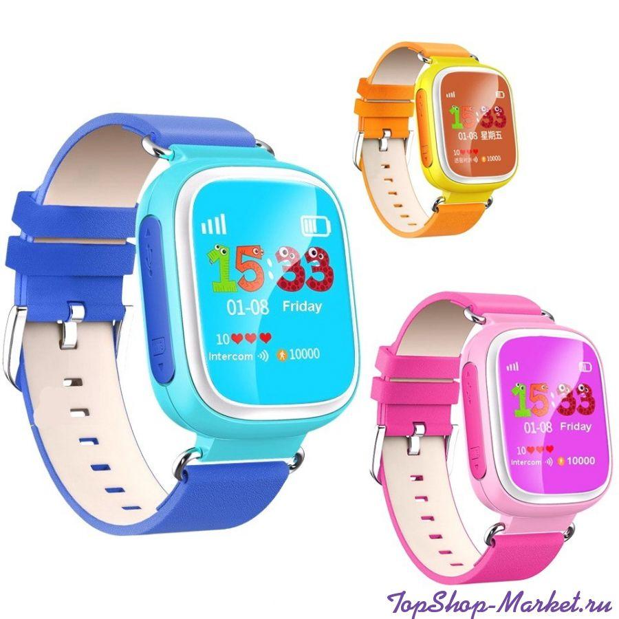 Умные детские часы с GPS Smart Baby Watch Q60S, Цвет: Оранжевый