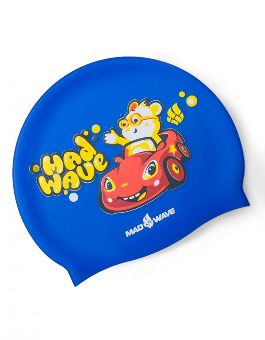 Шапочка для плавания силиконовая Mad Wave TEDDY BEAR