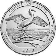 44 ПАРК США - 25 центов 2018 год, Национальный парк Побережье острова Кумберленд (Cumberland Island)