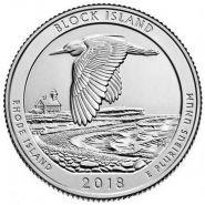 45 ПАРК США - 25 центов 2018 год, Национальный парк Национальное убежище дикой природы острова Блок (Block Island)