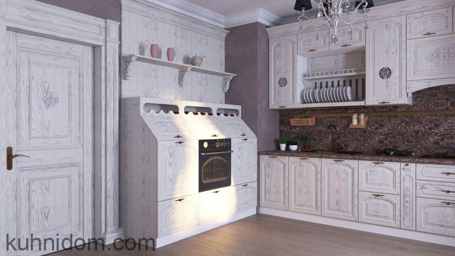 Кухня Корри с открытыми полками