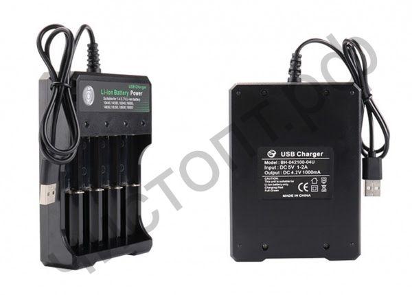 Заряд. уст-во для 4 аккум.18650 и подобных OT-APZ03 (04U)