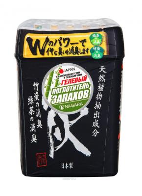 Nagara Поглотитель запаха гелевый с бамбуковым углем и зеленым чаем 320 мл