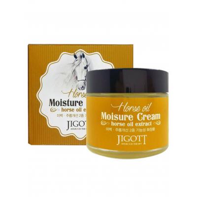 Jigott Moisture Cream Horse Oil Увлажняющий крем с лошадиным маслом 70 мл