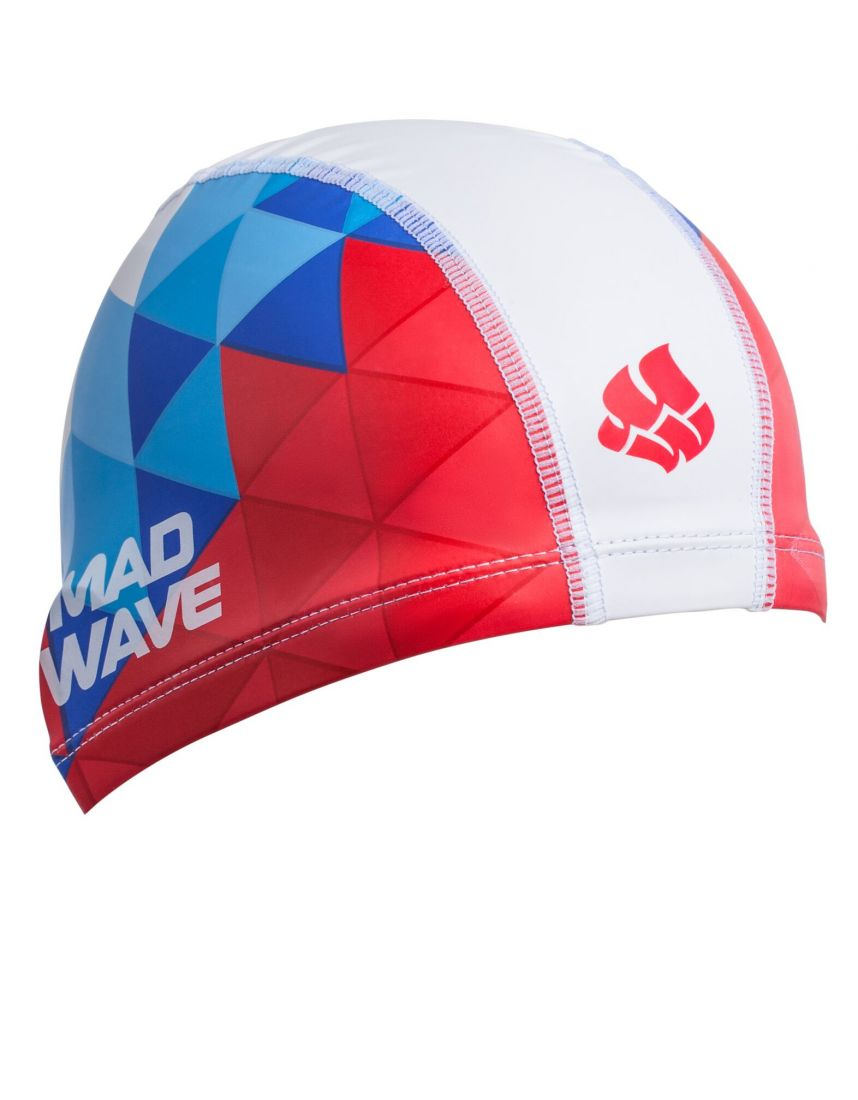 Шапочка для плавания комбинированная Mad Wave TRICOLOR