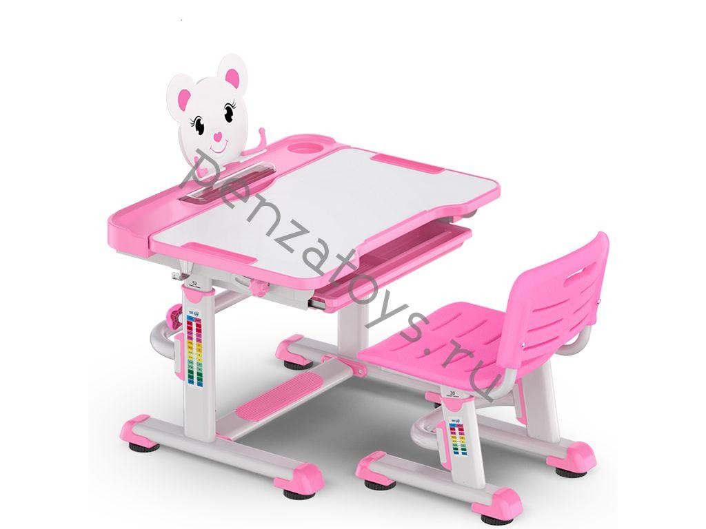 Комплект Парта+стул Mealux EVO-04 New XL Teddy