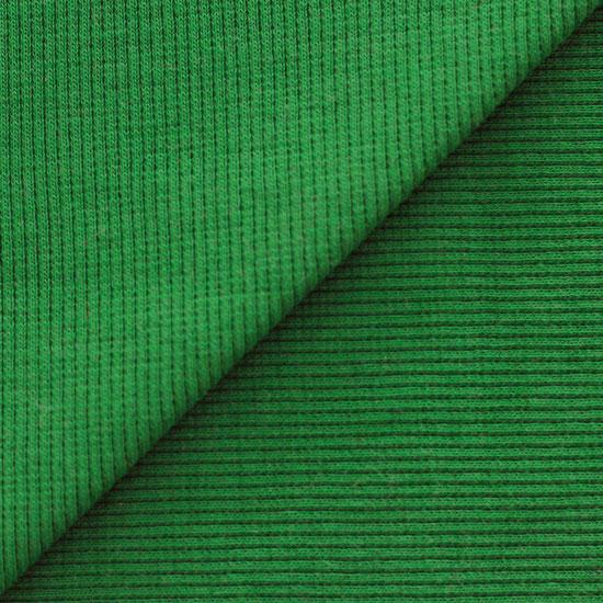 Лоскут трикотажной ткани кашкорсе Сочный зеленый 50*30