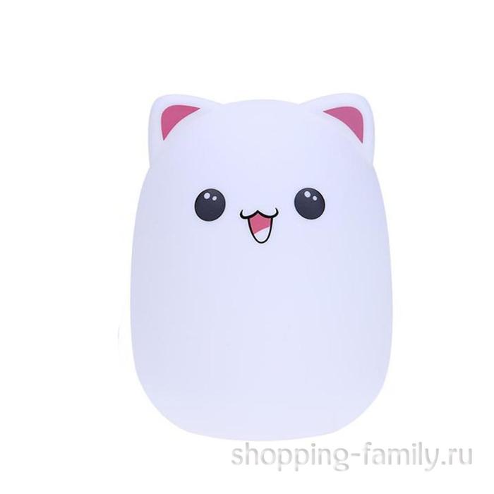 Силиконовый ночник Colorful Silicone Lamp, розовый мишка