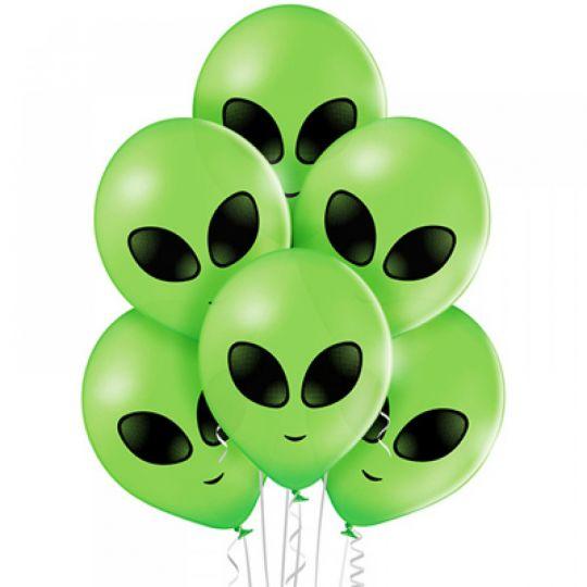 Инопланетянчик латексный шар с гелием