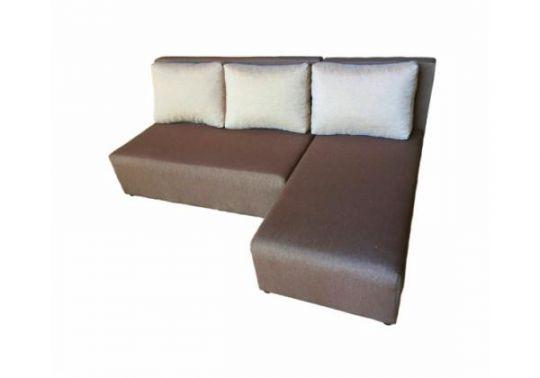 Угловой диван Олимп (Комо) коричнево-бежевый