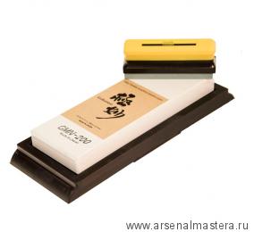 Заточной абразив 20000 Suehiro Gokumyo 205 х 73 х 20 мм на подставке с камнем для восстановления Suehirol М00015622