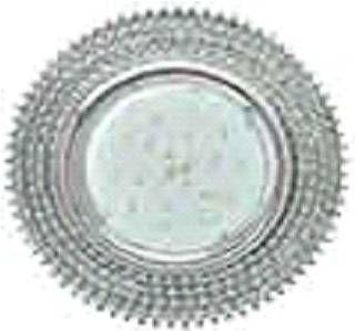 Светильник встраиваемый Ecola GX53-H4 св-к Стекло Круг c прозр.стразами хром-хром фон зерк. 40x120 FW53RGECB