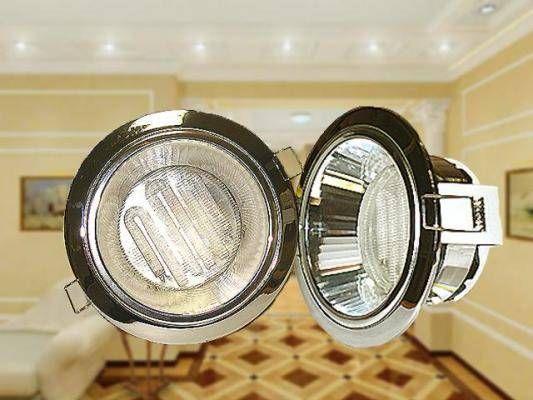 Светильник встраиваемый Ecola GX53-H2R с рефл. Хром 58x125 FC53H2ECB