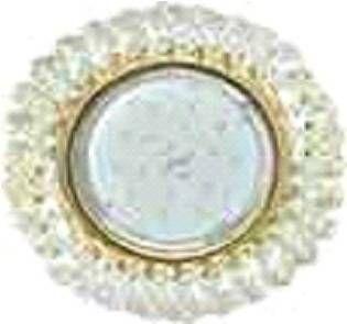 Светильник встраиваемый Ecola GX53-H4 св-к Стекло Круг с хрусталиками прозрачный золото 56x120 FD53RYECB