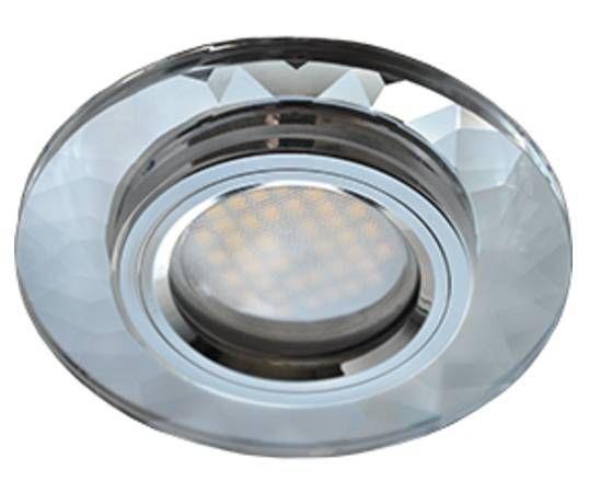 Светильник встраиваемый Ecola DL1654 MR16 GU5.3 стекло граненый Хром/Хром 25x90 FC1654EFF