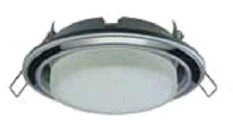 Светильник встраиваемый Ecola GX53-H4 2 цв.Серебро-черный хром-серебро 38x106 FL53H4ECB