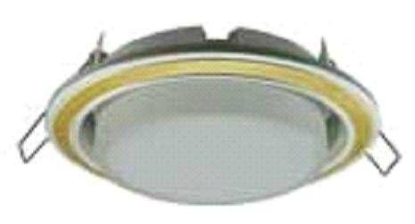 Светильник встраиваемый Ecola GX53-H4 2 цв.Жемчуг-золото-жемчуг 38x106 FV53H4ECB