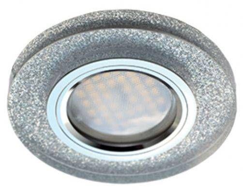 Светильник встраиваемый Ecola DL1650 MR16 GU5.3 круг стекло Серебряный блеск/Хром 25x95 FS1650EFF