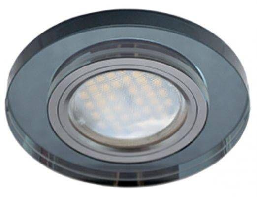 Светильник встраиваемый Ecola DL1650 MR16 GU5.3 круг стекло Черный/Черный хром 25x95 FB1650EFF