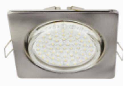 Светильник встраиваемый Ecola GX53-H4 Квадрат плоский Сатин-Хром 41x106 FS53N4ECB