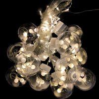 Светодиодная гирлянда-штора в виде ламп, 3 м, Цвет: Белый холодный