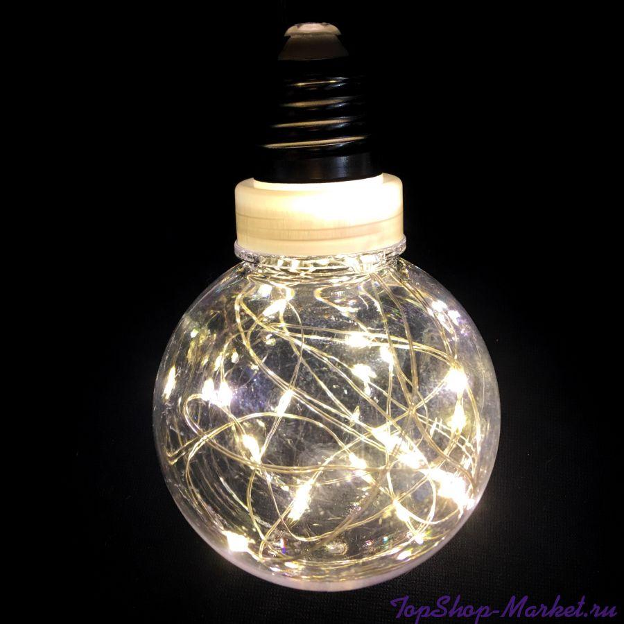 Светодиодная гирлянда Ретро-лампы, 3 м, Цвет: Разноцветный
