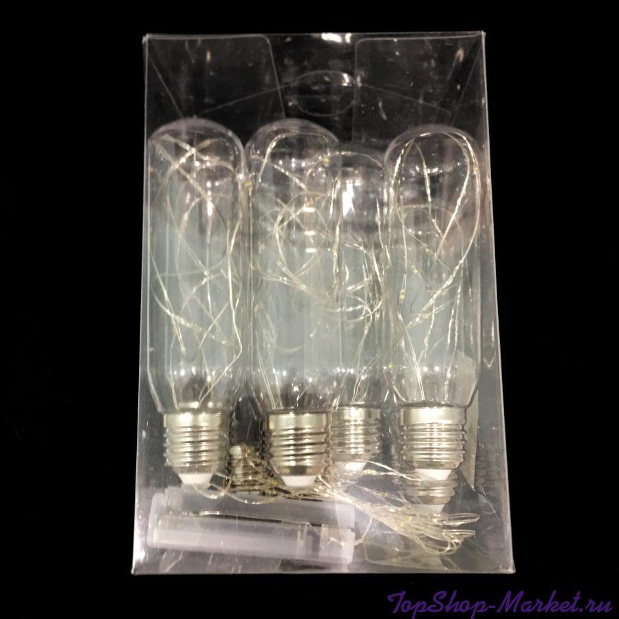 Светодиодная гирлянда-нить в виде ретро-ламп Эдисона, 2,8 м