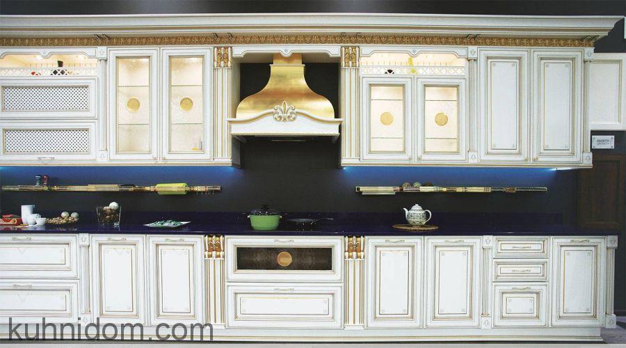 Кухня Лукреция Золотая прямая