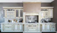 Кухня Лукреция Золотая с порталом
