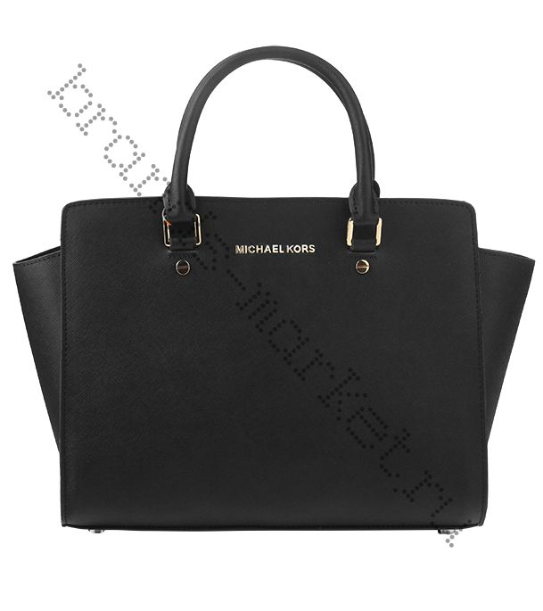 Michael Kors Selma Medium Satchel Black
