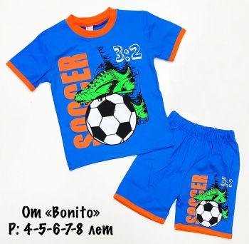 """Комплект для мальчика """"SOCCER"""" 4-8 лет BK355-1"""