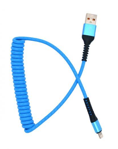 Кабель USB 3А Орбита KM-144 (iPhone5/6/7) 1м витой