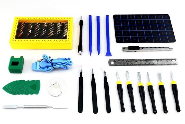 Большой набор инструментов 68 в 1 Best Profi для ремонта электроники в чехле