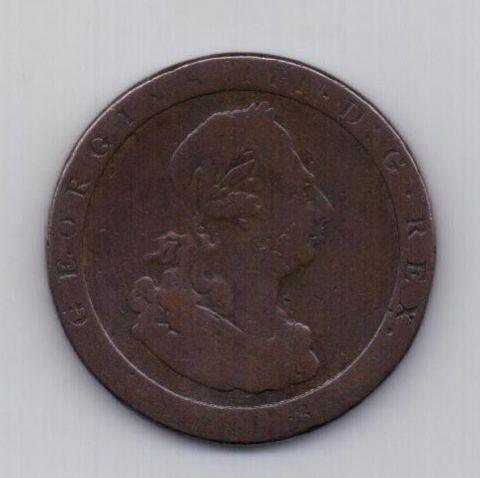 1 пенни 1813 года Колесо телеги Мэн Великобритания