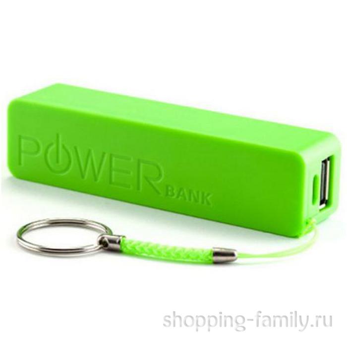 Портативное зарядное устройство Power Bank A5 2600 mAh, цвет зеленый