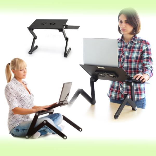 Мини стол-трансформер с кулером для ноутбука Laptop Table Т9