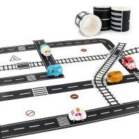 Игровой скотч с дорожной разметкой Умная железная дорога 72 мм*20 м