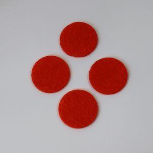 Фетровые пяточки 20мм, цвет № 18 кислотно-оранжевый