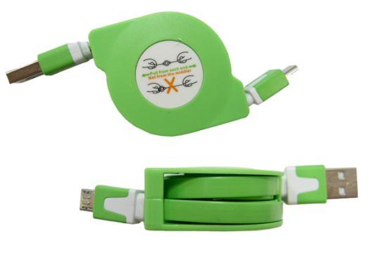 Кабель USB Орбита PS-96 (microUSB на катушке) 1м