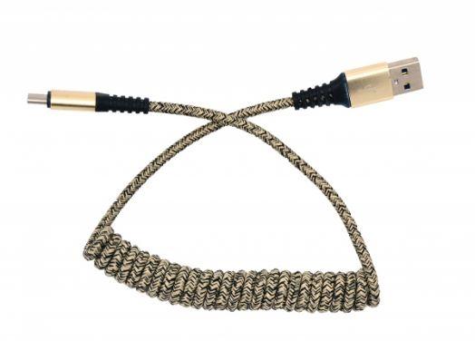 Кабель USB 2А Орбита KM-139 (TYPE C) 1м витой