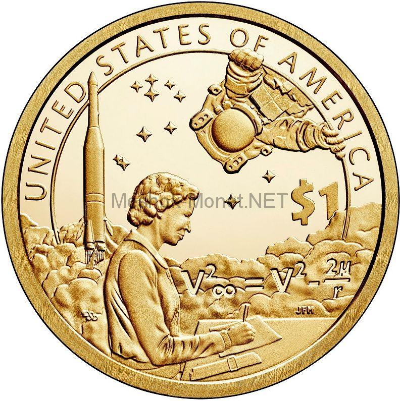 1 доллар США 2019 год Серия доллар Сакагавеи Индейцы в космической программе