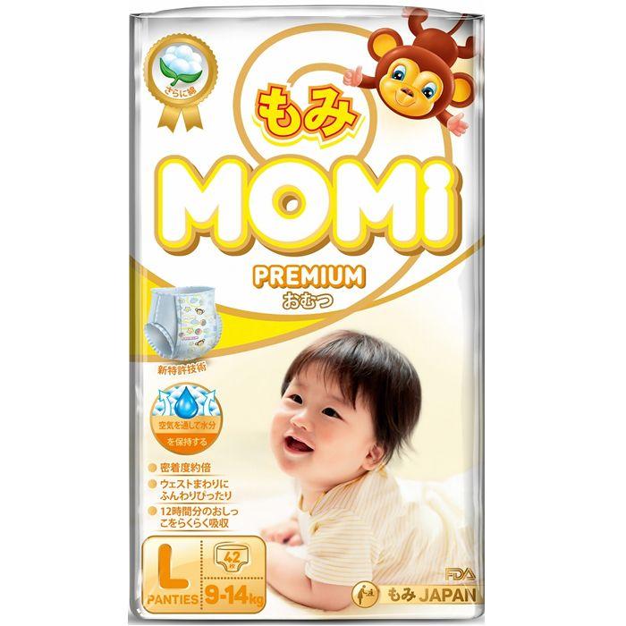 MOMI Premium подгузники-трусики L 9-14 кг 42 шт