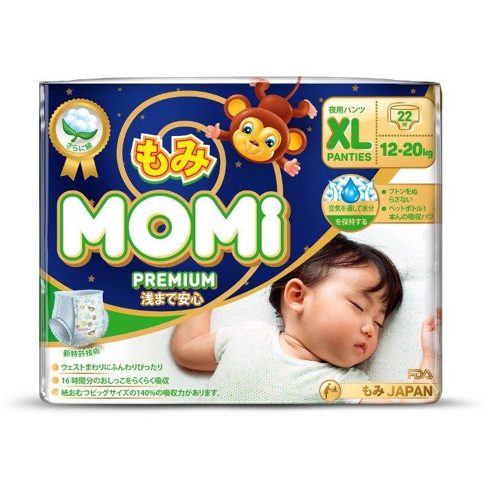 Momi Premium Night Трусики-подгузники  22 шт, 12-20 кг