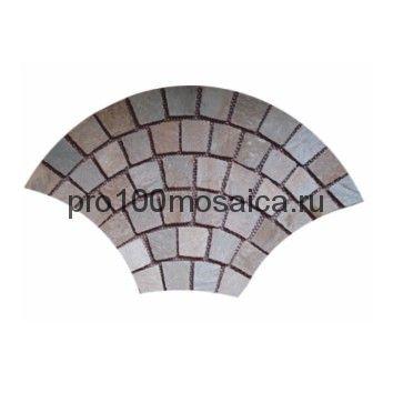 PAV-102 сланец. Брусчатка серия PAVING,  размер, мм: 1080x650x10~15 (NS Mosaic)