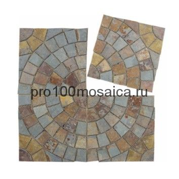 PAV-104 сланец. Брусчатка серия PAVING,  размер, мм: 500x500x10~15 (NS Mosaic)