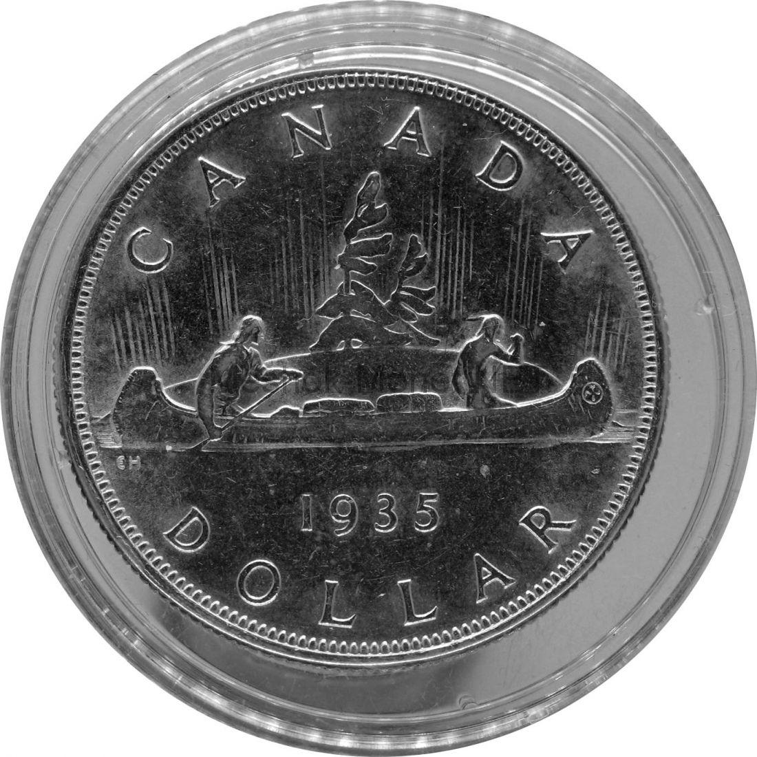 Канада 1 доллар 1935 г. Пирога