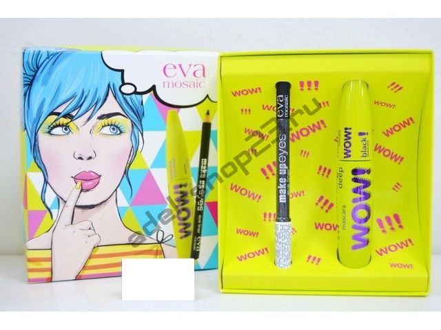 Eva Mosaic - набор тушь Wow Volume и карандаш Make Up Eyes черный